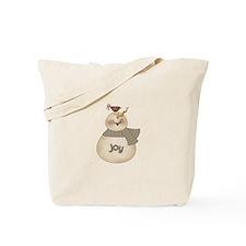 Joyous Snowman Tote Bag