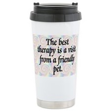Best Therapy is a Visit Ceramic Travel Mug