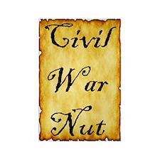 Civil War Nut Rectangle Magnet