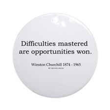Winston Churchill 5 Ornament (Round)