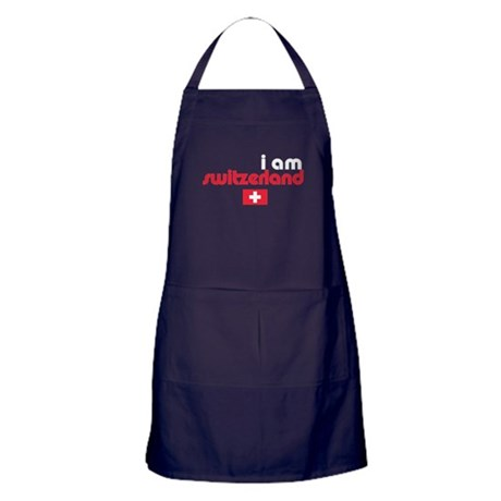 I Am Switzerland Apron (dark)