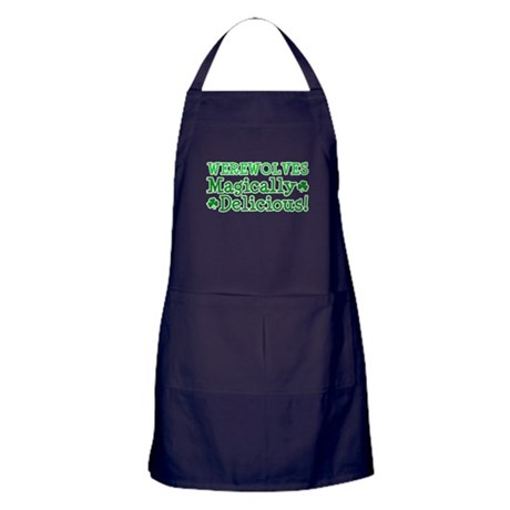 Werewolves Delicious Apron (dark)