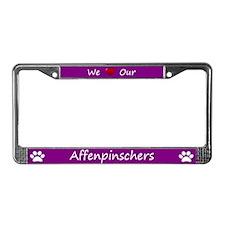 Purple We Love Our Affenpinschers Frame