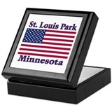 St. Louis Park Flag Keepsake Box
