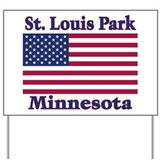 St. Louis Park Flag Yard Sign