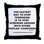 ENDING TERRORISM Throw Pillow