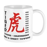 Chinese Zodiac Year of The Tiger Small Mugs
