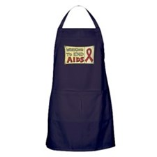 Working to End AIDS Apron (dark)