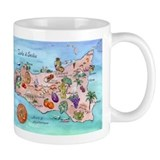 Map Of Sicily Small Mug