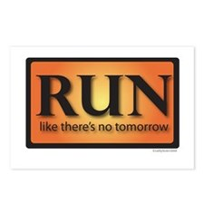 RUN like there's no tomorrow Postcards (Package of