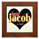 Team Jacob Black Heart Framed Tile