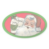 Holiday Tip Jar Sticker with Santa Claus