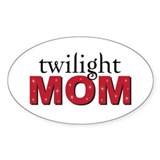 """Twilight Mom"" Oval Decal"