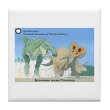 TrexTriceratops Tile Coaster