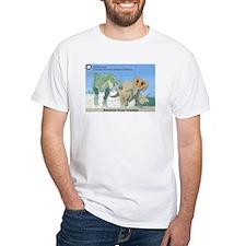 TrexTriceratops White T-Shirt