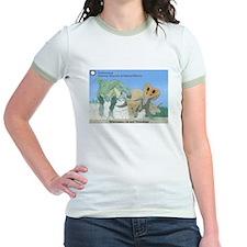 TrexTriceratops Jr. Ringer T-Shirt