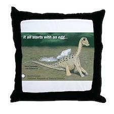Giant Titanosaur Egg Throw Pillow