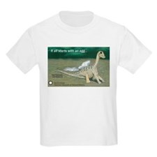 Giant Titanosaur Egg Kids Light T-Shirt