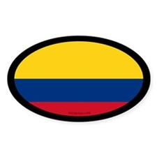 Colombian Flag Oval Decal