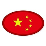 Chinese Flag Oval Decal