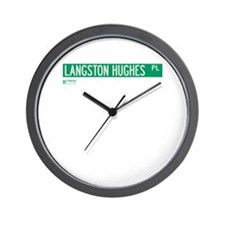 Langston Hughes Place in NY Wall Clock