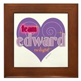 Team Edward Purple Heart Framed Tile