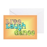 Live, Laugh, Dance Greeting Cards (Pk of 20)
