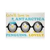 Penguins.Lovely. Rectangle Magnet