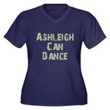 Ashleigh Women's Plus Size V-Neck Dark T-Shirt