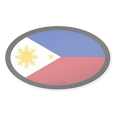 Filipino Flag Oval Decal