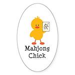 Mahjong Chick Oval Sticker (10 pk)