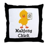 Mahjong Chick Throw Pillow