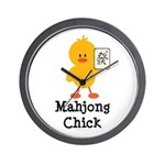 Mahjong Chick Wall Clock