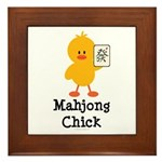 Mahjong Chick Framed Tile