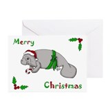 Christmas Manatee Greeting Cards (Pk of 20)