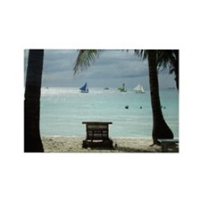 Afternoon View from Boracay Rectangle Magnet (100