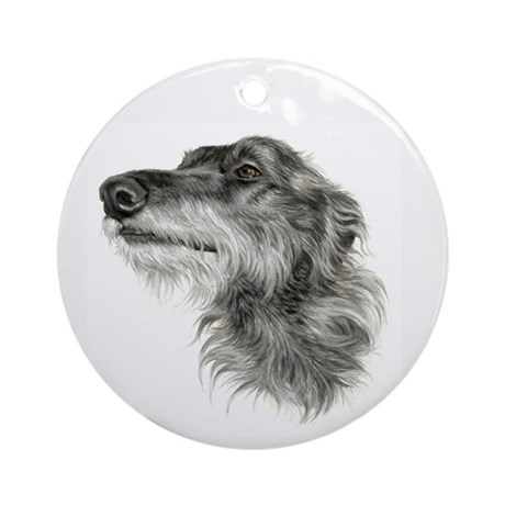 Scottish Deerhound Ornament (Round)