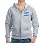 Serenity Slogan (clouds) Women's Zip Hoodie