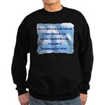 Serenity Slogan (clouds) Sweatshirt (dark)