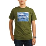 Serenity Slogan (clouds) Organic Men's T-Shirt (da