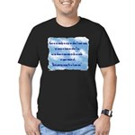 Serenity Slogan (clouds) Men's Fitted T-Shirt (dar