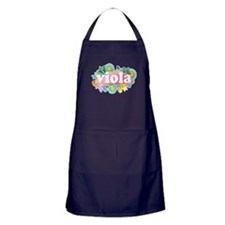 Retro Burst Viola Apron (dark)