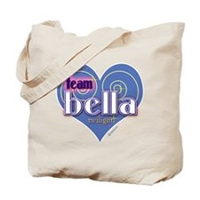 Team Bella Big Blue Heart Tote Bag