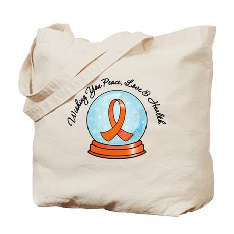 Leukemia Snowglobe Tote Bag