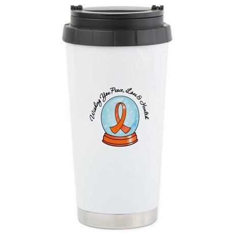 Leukemia Snowglobe Ceramic Travel Mug