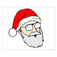 Santa Dan Small Poster