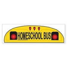 Homeschool Bus 2 Bumper Bumper Sticker