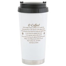 Coffee Invocation Ceramic Travel Mug