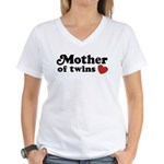 Mother of Twins Women's V-Neck T-Shirt