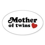 Mother of Twins Oval Sticker (10 pk)